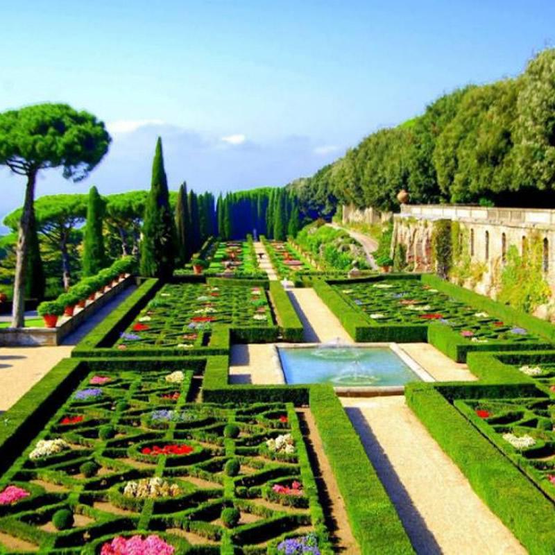 Uno scorcio dei Giardini Pontifici vicino Roma
