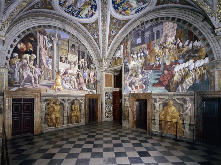 La Stanza dell'Incendio di Borgo affrescata da Raffaello nei Musei Vaticani